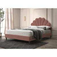 Двуспальная кровать Signal Santana Velvet 160x200 Античная роза