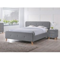 Двуспальная кровать Signal Malmo 180x200 серый (MALMO180SZD)