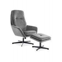 Кресло с подставкой для ног Signal Ford Velvet серый (FORDVSZ)
